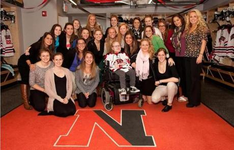 Members of the Northeastern women's hockey team are paired with Marianne through the program.